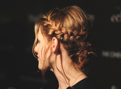 cabelo preso trança