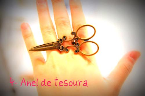 anel de tesoura
