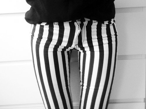 listras preto e branco